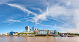 Panoramic image of North Bank of river Thames on a bright sunny day - 172580719