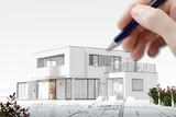 Esquisse d'une maison d'architecte - 172595741