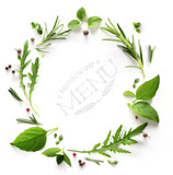 art seasoning Herb; restaurant menu; cooking background - 172599569
