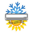 Air conditioning for room symbol