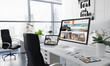 office desktop travel agency