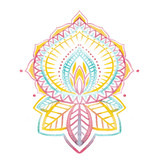 Watercolor native indian ornament - 172660913