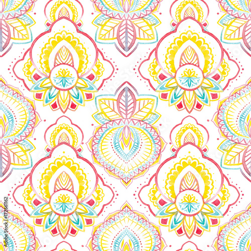Watercolor native indian pattern - 172661162