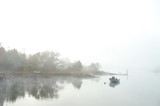 early peaceful foggy morning in portsmouth  - 172691164