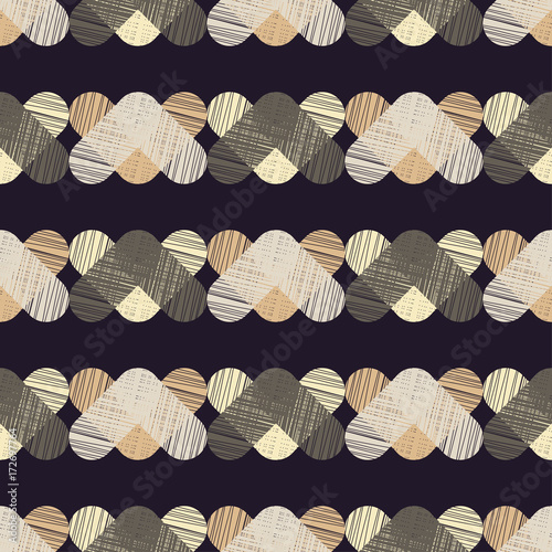 Fotobehang Stof Seamless background with abstract geometric pattern. Grunge texture. Textile rapport.