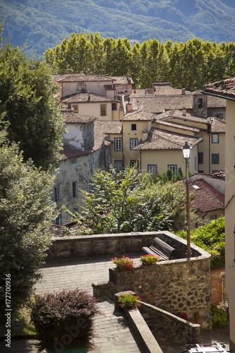 Deurstickers Toscane Italia, Toscana, Lucca,Garfagnana,il paese di Barga.