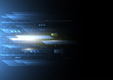 Abstract future digital speed technology concept, science, energy, futuristic speed and motion blur light rays. Vector illustration - 172716920