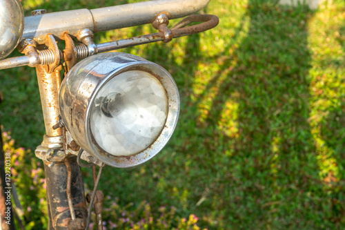 Staande foto Fiets vintage bicycle lights
