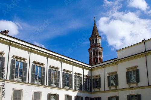 Keuken foto achterwand Milan Milano Campanile Chiesa San Gottardo in Corte e Palazzo Reale Lombardia Italia Italy