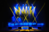 Free stage with lights, lighting devices. - 172726389