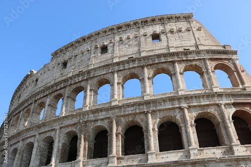 Tuinposter Rome Resti archeologici dei Fori Imperiali e Colosseo. Roma Italia