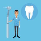 Dentist cartoon campaign icon vector illustration graphic design - 172746758
