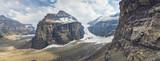 lake louise mountains six glaciers