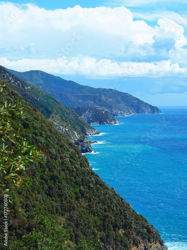 The Cingue Terre National Park in Liguria region Poster