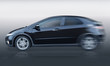 Black auto on gradient background