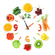 Food clock with fresh fruits and vegetables - 172786167