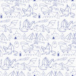 Dragons doodle seamless pattern - 172786385