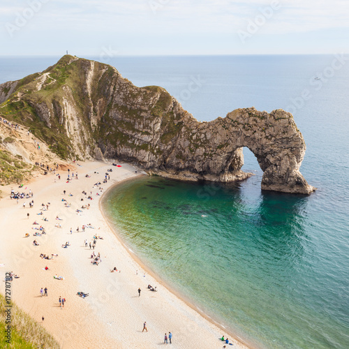 The Jurassic coast in England near Durdle Door Poster