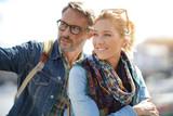 Couple of tourists enjoying beautiful day outside - 172794154