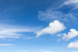 White fluffy clouds in the blue sky - 172797394