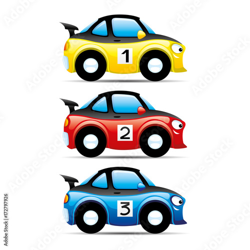 Poster Set of cars.