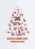 Merry Christmas Greeting Card - 172800990