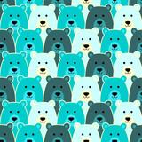 Seamless pattern with polar bear