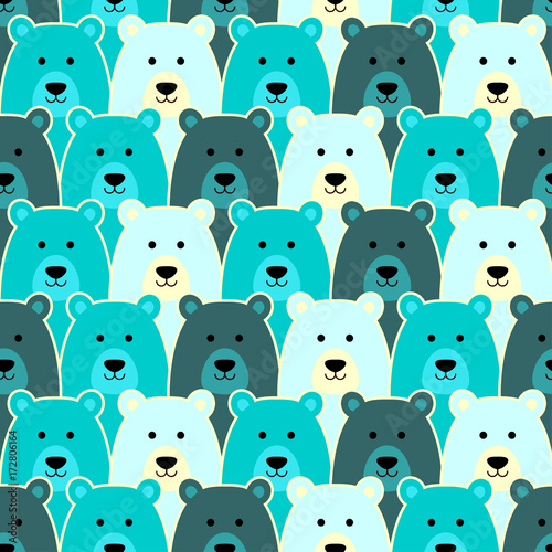 Seamless pattern with polar bear