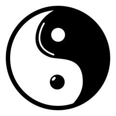 Yin yang symbol taoism icon , simple style