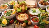 selection of libanese food mezze - 172809544