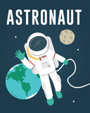 Astronaut Floating in Space - 172811756
