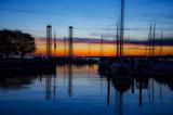 Segelboote im Hafen zum Sonnenuntergang - 172811978