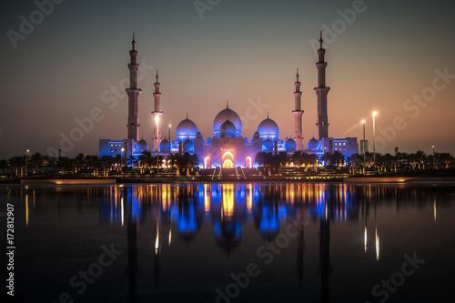 Foto Spatwand Abu Dhabi Mosque