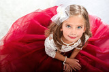 Adorable smiling little girl child in princess dress - 172815512