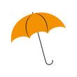 umbrella rainy season protection accessory vector illustration