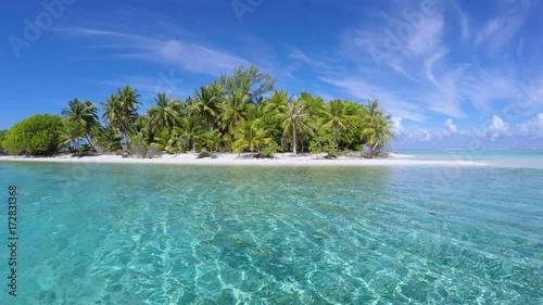 paysage de plage paradisiaque à tahiti, polynésie