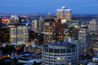 View of the city of Montreal,Quebec at dusk.