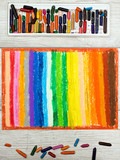 Photo of colorful oil pastels drawing texture for background. - 172850108