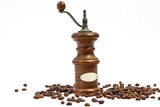 Coffee grinder with a place for inscriptions and grains - 172850189