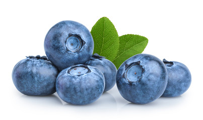 blueberry isolated on white background © azure