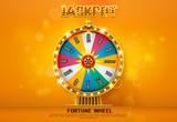 fortune wheel spinning  on bokeh background - 172851982