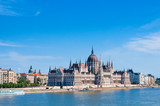 Hungarian Parliament on the embankment of Danube river in Budapest, Hungary - 172852337
