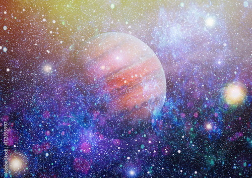 Galaxy - Elements of this Image Furnished by NASA Poster