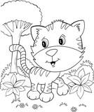 Cute Tiger Cub Kitten Vector Illustration Art - 172858396