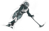 Athletes with physical disabilities - ALPINE SKIING - 172859191