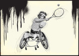 Athletes with physical disabilities - WHEELCHAIR TENNIS - 172860385