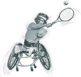Athletes with physical disabilities - WHEELCHAIR TENNIS - 172860502