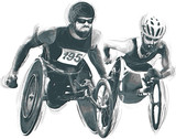Athletes with physical disabilities - WHEELCHAIR RACING - 172860705