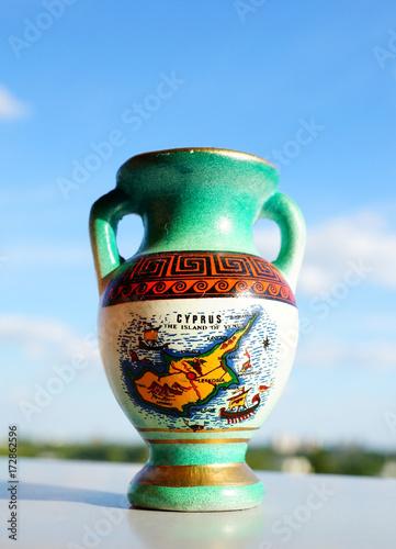 Spoed canvasdoek 2cm dik Cyprus Greek vase