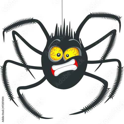 Deurstickers Draw Spider